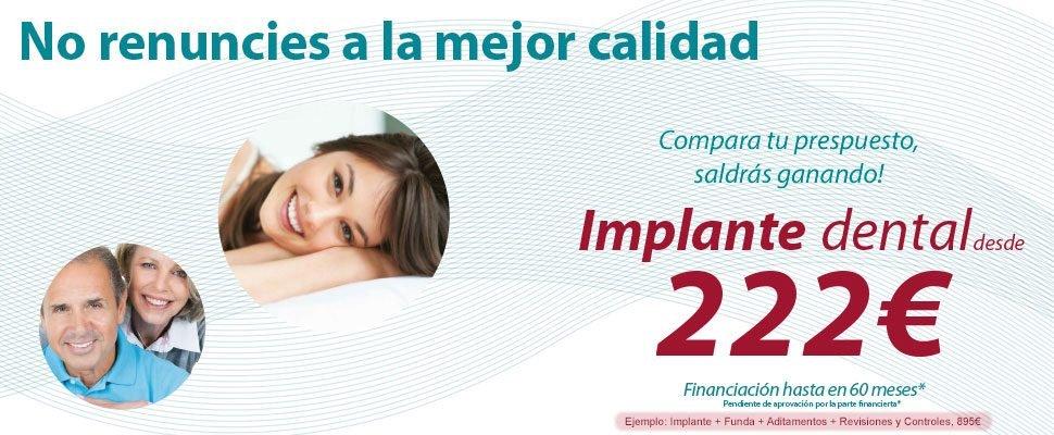 clinica dental implante oferta